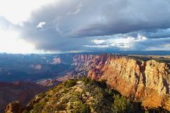 Grand canyon. In USA on the sunset royalty free stock photo