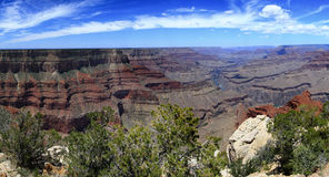 Grand Canyon. Majestic Grand Canyon - panorama view royalty free stock photos