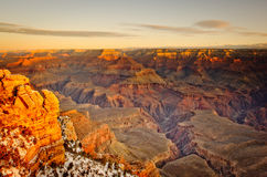 Grand Canyon. In Arizona in the winter Stock Image