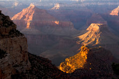 Grand Canyon. Beautiful colorful landscaped rock formations in the Grand Canyon Stock Photos
