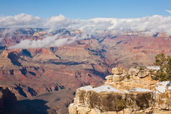 Grand Canyon. National Park in winter, South Rim Royalty Free Stock Photos