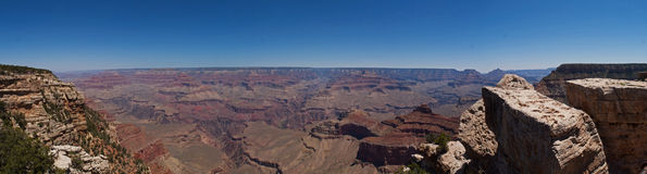 The Grand Canyon. A panoramic view of the Grand Canyon Stock Photos
