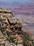 The Grand Canyon. Weathering of rock layers created this unique geologic structure in the Grand Canyon. Seen from the south rim stock photography