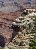 The Grand Canyon. Weathering of rock layers created this unique geologic structure in the Grand Canyon. Seen from the south rim royalty free stock image
