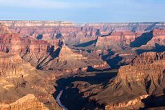 Grand Canyon. View of Grand Canyon from Mohave Point looking North-West; the Colorado River and, in distance, Havasupai Point and the Powel Plateau Stock Image