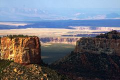 Grand Canyon. North rim and desert Stock Images