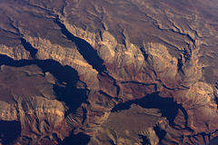 Grand Canyon. Sunrise aerial shot of the Grand Canyon stock images