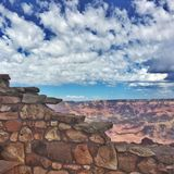 Grand Canyon. From above rocks Stock Photos