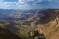 Grand Canyon ad alba Immagine Stock Libera da Diritti