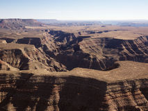 Grand Canyon aerial. Royalty Free Stock Photos