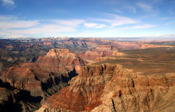 Grand Canyon Aerial View Royalty Free Stock Images