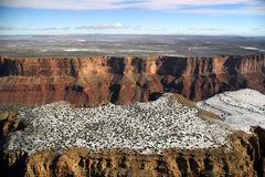 Grand Canyon Aerial View. An aerial view, from onboard a flightseeing tour, of the Grand Canyon stock image