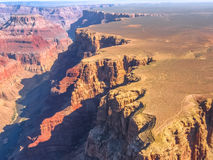 Grand Canyon, aerial view Royalty Free Stock Images