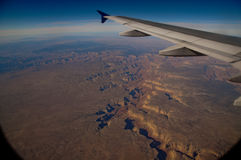 Grand Canyon from the air royalty free stock photography