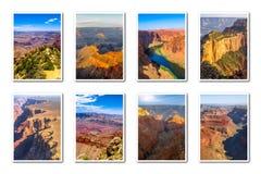 Grand Canyon ajardina el collage Fotos de archivo libres de regalías