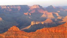 Grand Canyon al tramonto Fotografie Stock Libere da Diritti
