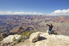 Grand Canyon Amazement and Freedom Stock Photos