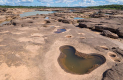 Grand Canyon amazing of rock in Mekong river, Ubonratchathani Royalty Free Stock Images
