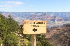 Grand Canyon Angel Trail brilhante Fotografia de Stock