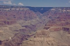 Grand canyon arizona aerial view royalty free stock photography