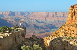 Grand Canyon Arizona. April 14, 2017: View of Grand Canyon south rim in Arizona US. The picture is was taken from Moran Point, one of the popular viewpoints at Stock Image