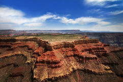 GRAND CANYON, ARIZONA, AZ, USA: A panoramic view of the Grand Canyon National Park Stock Photo