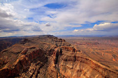 GRAND CANYON, ARIZONA, AZ, USA: A panoramic view of the Grand Canyon National Park. A panoramic view of the Grand Canyon National Park Stock Images