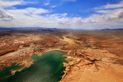 GRAND CANYON, ARIZONA, AZ, USA: A panoramic view of Mead Lake in the Grand Canyon National Park Royalty Free Stock Images