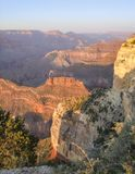 Grand Canyon in Arizona. Colorful evening scenery at the Grand Canyon National Park in Arizona, USA Royalty Free Stock Photos