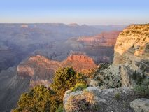 Grand Canyon in Arizona. Colorful evening scenery at the Grand Canyon National Park in Arizona, USA Royalty Free Stock Photo