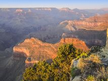 Grand Canyon in Arizona. Colorful evening scenery at the Grand Canyon National Park in Arizona, USA Stock Photo