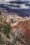 Grand Canyon in Arizona. Dark storm clouds over the Grand Canyon in Arizona, USA Stock Photography
