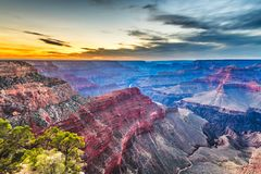 Grand Canyon, Arizona, Etats-Unis de la jante du sud images stock