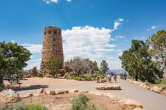 Desert View Watchtower at Grand Canyon National Park Royalty Free Stock Images
