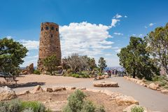 Desert View Watchtower at Grand Canyon National Park Stock Image