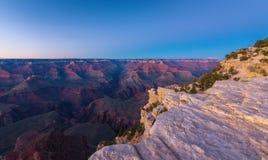 Grand Canyon, Arizona, perspectieflandschap in de herfst bij zonsopgang Stock Foto's