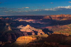 Grand Canyon, Arizona, scenery, profiled on sunset sky Stock Photos