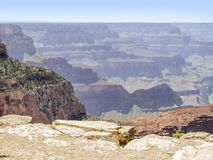 Grand Canyon in Arizona. Sunny aerial view at the Grand Canyon National Park in Arizona, USA Stock Photo