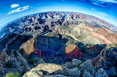 Grand canyon arizona on a sunny day in psring Stock Image