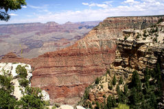 Grand Canyon, Arizona, United States. Uplifted mountain formation, steep sided carved by Colarado river over millions of years, rock strata formed during Stock Image