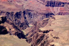 Grand Canyon, Arizona, United States. Uplifted mountain formation, steep sided carved by Colarado river over millions of years, rock strata formed during Stock Photo