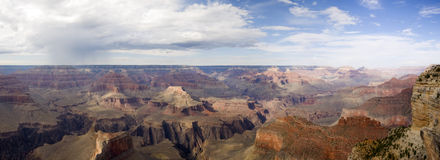 Grand Canyon, Arizona, USA. Panoramic view over the beautiful and large Grand Canyon Royalty Free Stock Photos