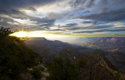 Grand Canyon, Arizona, USA. Beautiful sunset over the Grand Canyon Stock Photo