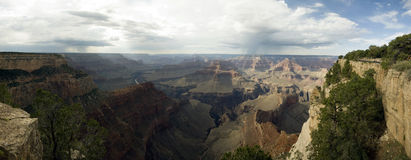 Grand Canyon, Arizona, USA. Panoramic view over the beautiful and large Grand Canyon Royalty Free Stock Photography
