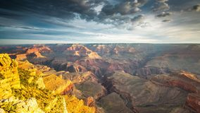Grand Canyon, Arizona, USA. At dawn from the south rim stock video