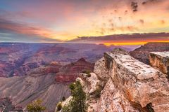 Grand Canyon, Arizona, USA From The South Rim Stock Images