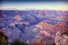 Grand Canyon Arizona. Grand Canyon, Arizona, USA, with an instagram filter Royalty Free Stock Photos