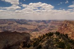 Grand Canyon Arizona. The Grand Canyon in Arizona USA. Looking from the South Rim Stock Photography