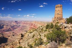 Grand Canyon, Arizona. Grand Canyon, view of the Indian watchtower, Arizona Royalty Free Stock Image