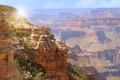 Grand Canyon Arizona. View of Grand Canyon south rim in Arizona US Royalty Free Stock Photography